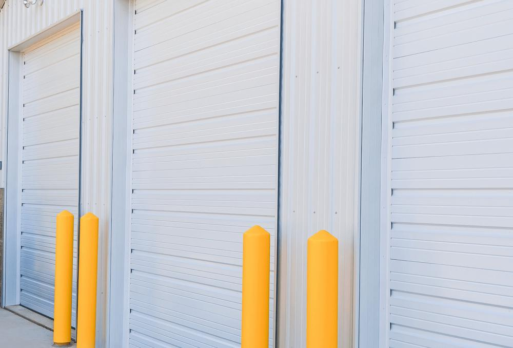 Ribbed Steel Commercial Door